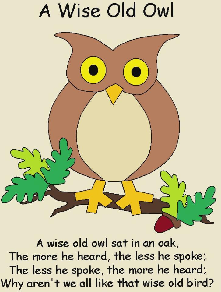 A Wise Old Owl – Rhymes Online