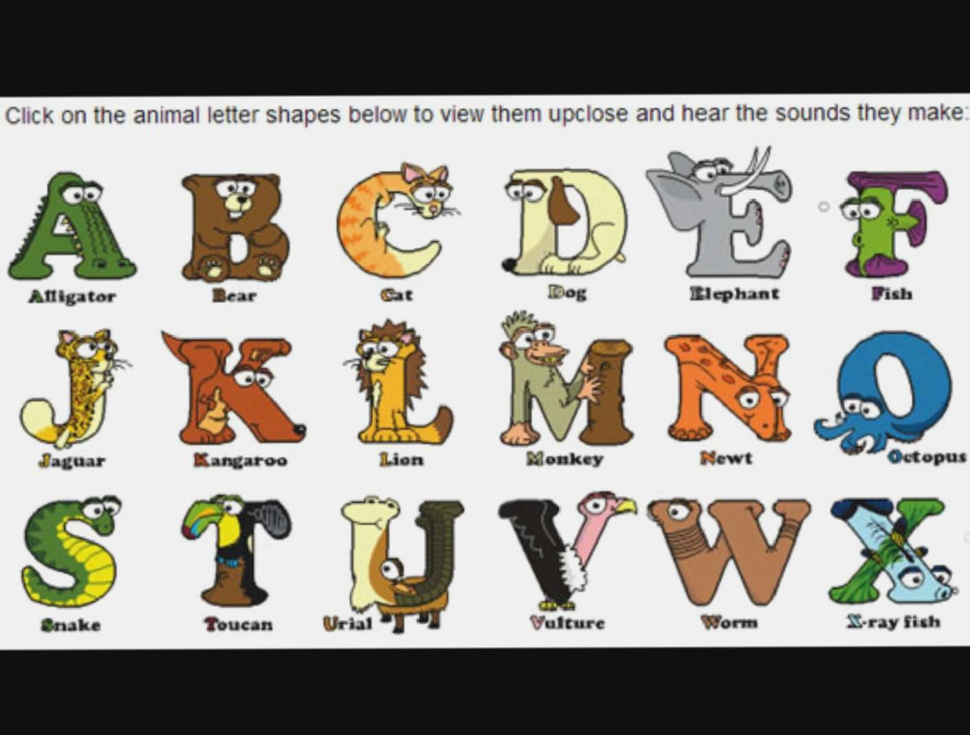 Animal Alphabet Song